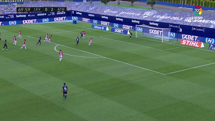 Gol de Bardhi (1-2) en el Levante 1-2 Athletic