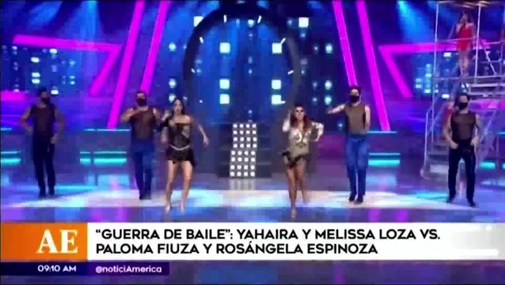 Yahaira Plasencia y Melissa Loza vencen en un duelo de baile a Rosángela Espinoza y Paloma Fiuza