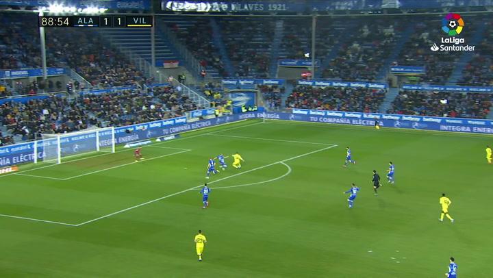 Gol de Fer Niño (1-2) en el Alavés 1-2 Villarreal