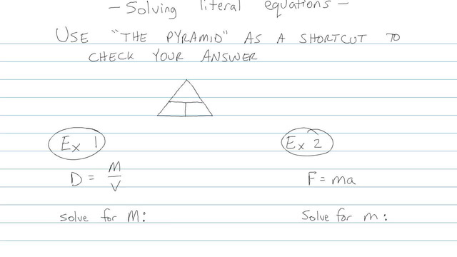 Solving Literal Equations - Problem 4