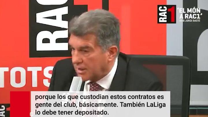 Laporta señala a cinco posibles responsables de las filtraciones del contrato de Messi