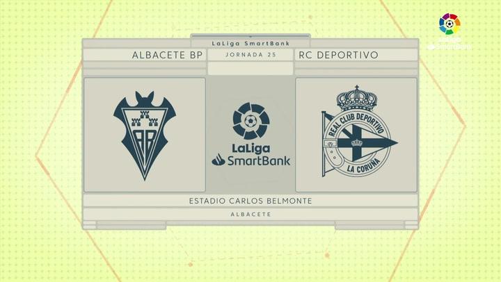 LaLiga SmartBank (J25): Resumen y gol del Albacete 0-1 Deportivo