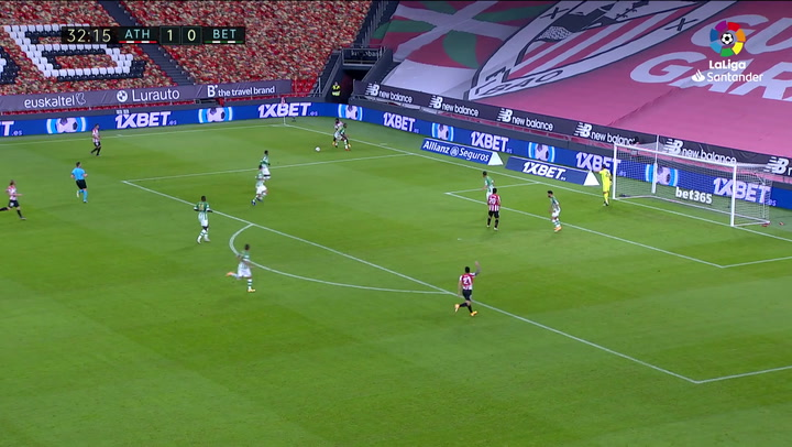 Gol de Capa (2-0) en el Athletic 4-0 Betis