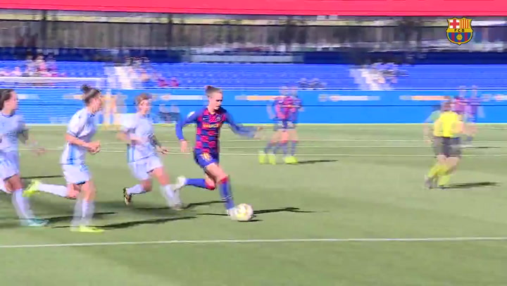 Primer hat-trick de Caroline Graham Hansen con el Barça