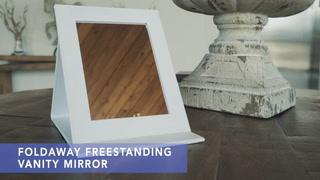 Foldaway Freestanding Vanity Mirror