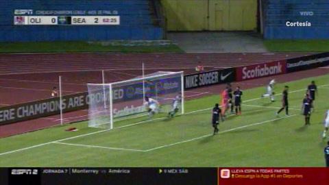 Video: Los goles de Yustin Arboleda que le dieron el empate al Olimpia ante Seattle Sounders.