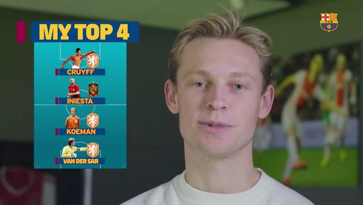 De Jong elige su 'top 4' de leyendas del fútbol
