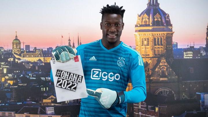 Onana renueva con el Ajax hasta 2022