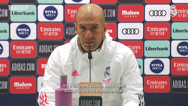Zidane: 'El Clásico is a good game to turn things around'