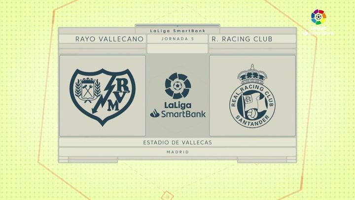 LaLiga SmartBank (J5): Resumen y goles del Rayo Vallecano 2-0 Racing de Santander