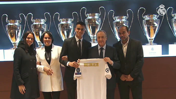 Reinier, presented as Real Madrid player