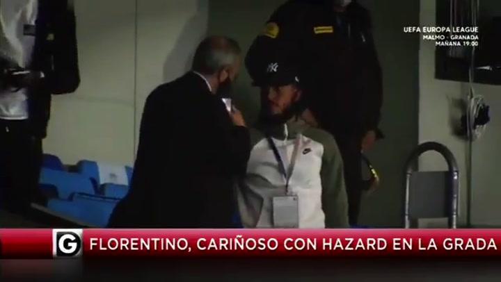 El gesto de ánimo de Florentino a Hazard tras conocer su nueva lesión