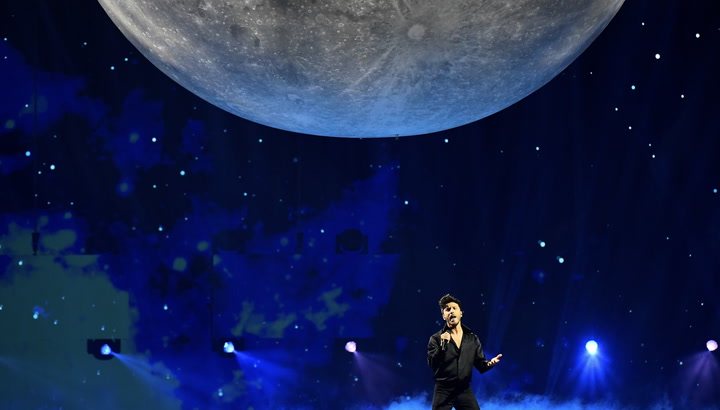 Spain's moon is biggest prop to ever feature on Eurovision