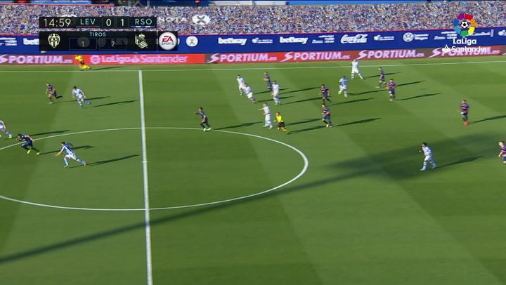 Gol de Morales (1-1) en el Levante 1-1 Real Sociedad