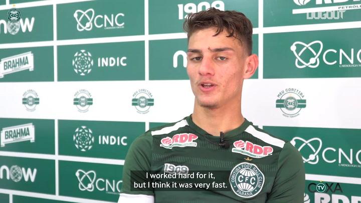 Natanael on his debut at Coritiba