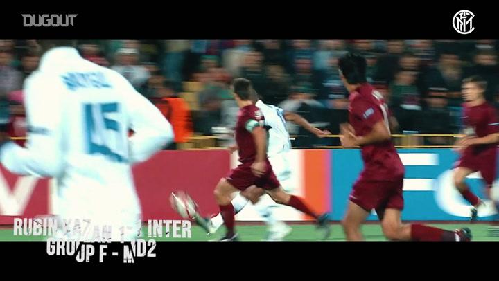 جميع أهداف إنتر ميلان في دوري أبطال أوروبا ٢٠٠٩-٢٠١٠