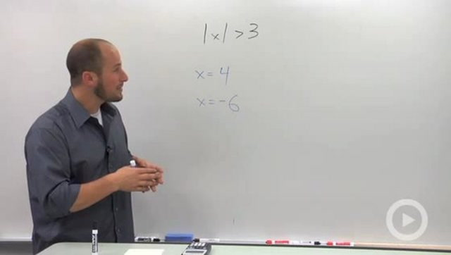 "Solving ""Greater Than"" Absolute Value Inequalities - Concept"