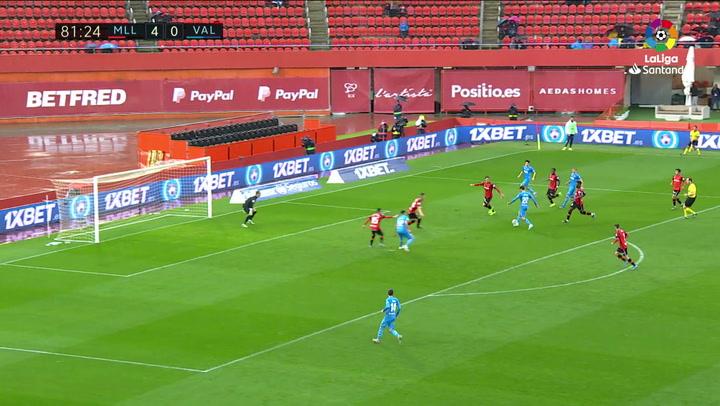 Gol de Ferran Torres (4-1) en el Mallorca 4-1 Valencia