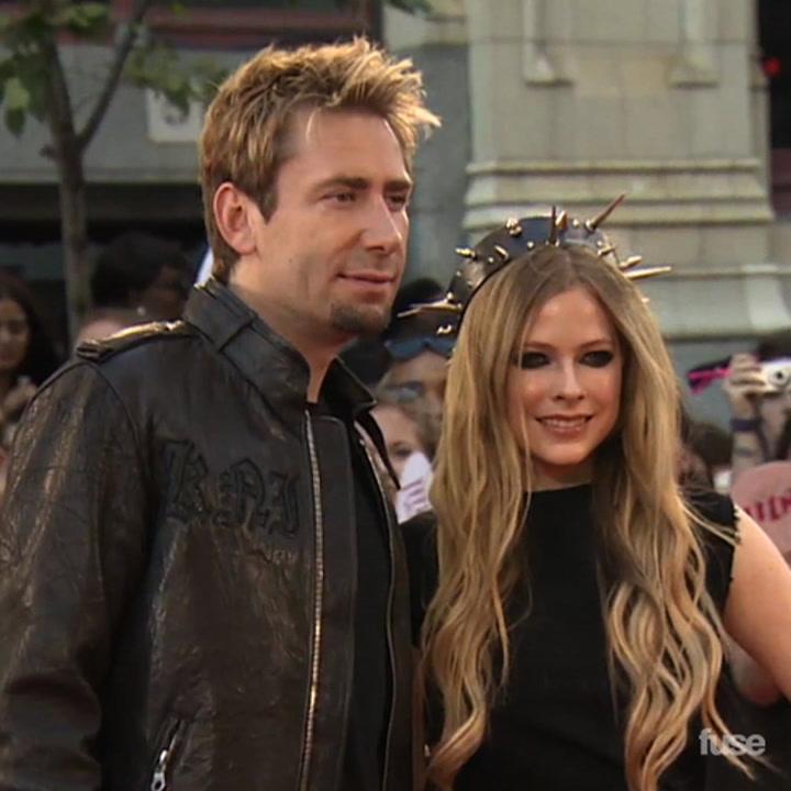 Avril Lavigne Walks MMVA Red Carpet With Fiance Chad Kroeger