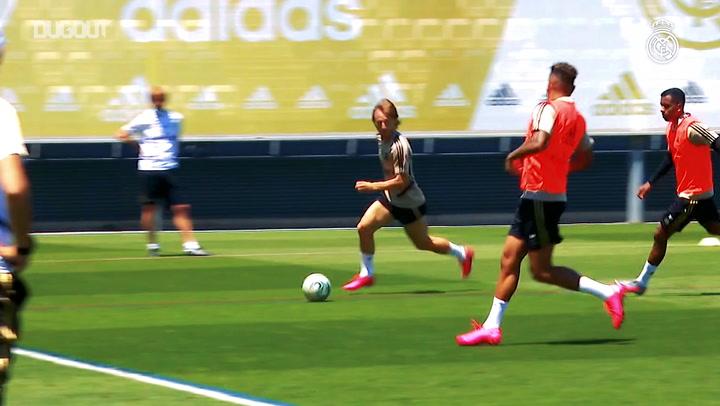 Real Madrid Mallorca Maçının Hazırlıklarına Başladı