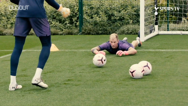 Joe Hart takes part in Tottenham training