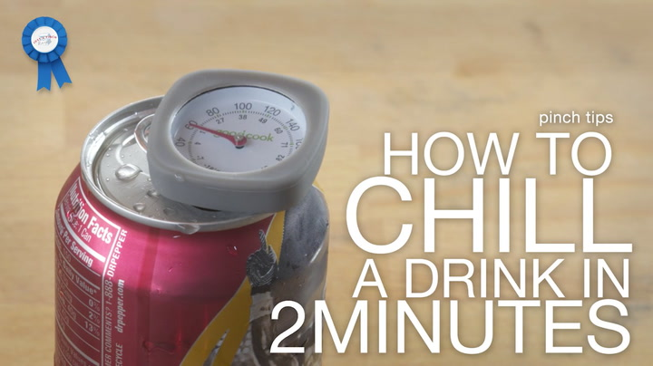 pinch tips: How to Chill a Drink in 2 Minutes