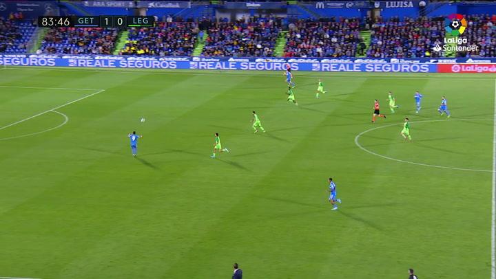 Gol de Ángel (2-0) en el Getafe 2-0 Leganés