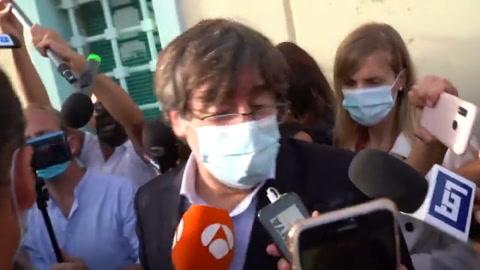 Puigdemont sale en libertad y puede marcharse de Italia