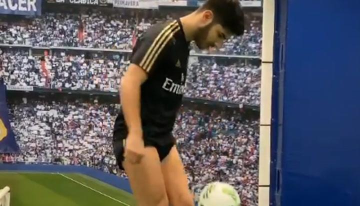 Asensio ya toca balón en Valdebebas