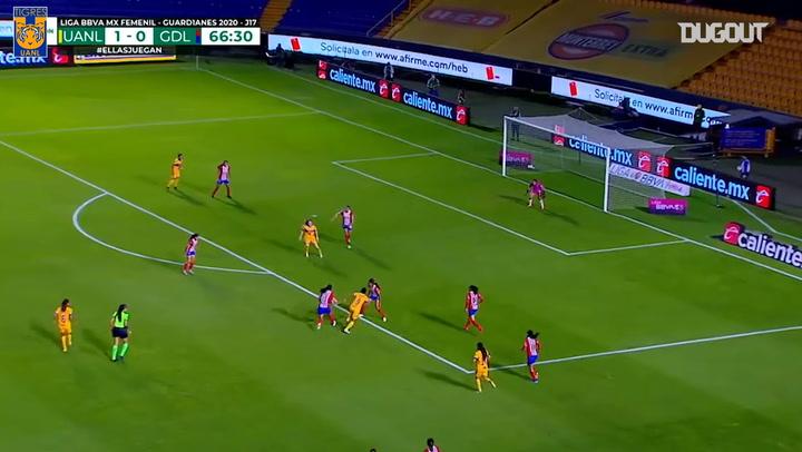 La gran jugada colectiva de Tigres Femenil ante Chivas