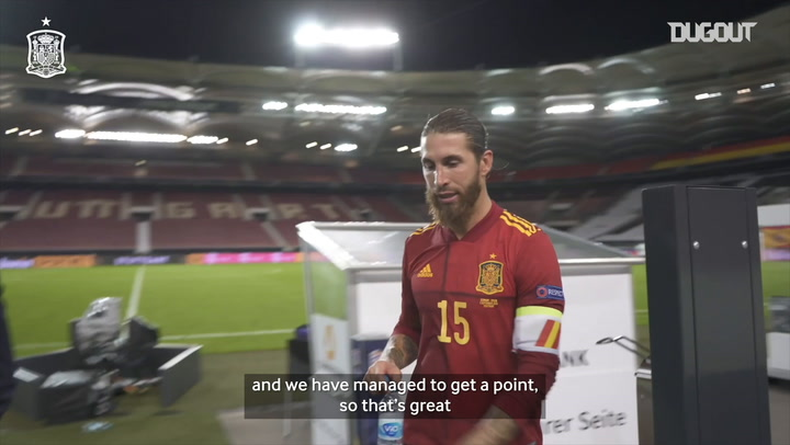 Behind the scenes: Sergio Ramos after Spain's draw vs Germany