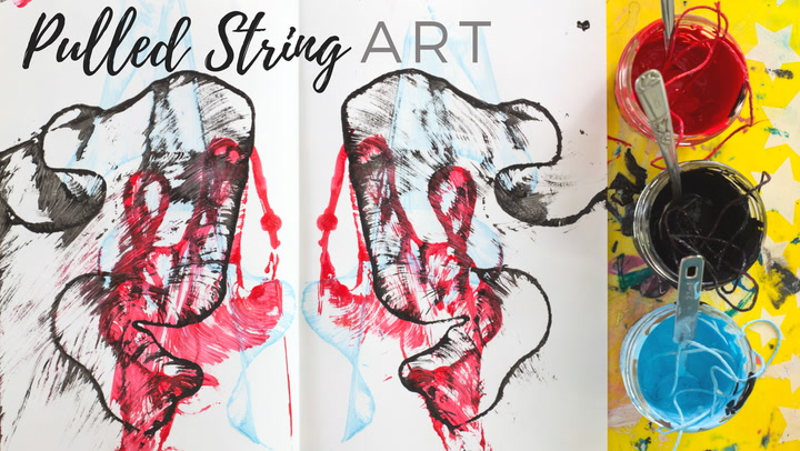 String Dipped In Paint Art