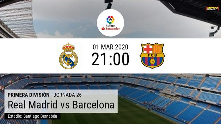 Real Madrid-Barça: Mira los horarios del Clásico en todo el mundo