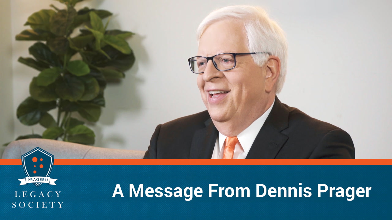 A Message From Dennis Prager