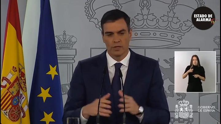 Pedro Sánchez ha puesto fecha para el fin del actual estado de alarma impuesto en España