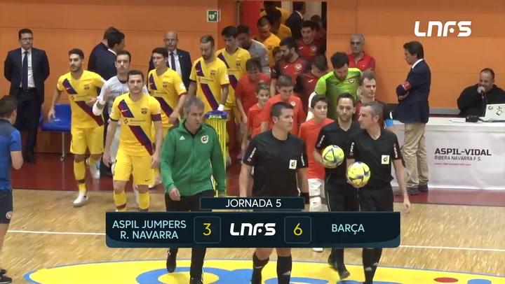 Resumen del Ribera Navarra - Barça de la Jornada 5