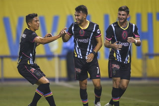 Lights FC defender Jorge Guillen-Torres is happy to be back on the field
