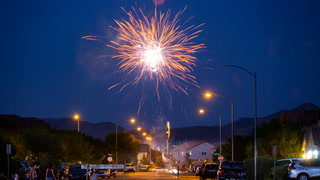 Fireworks light up Las Vegas