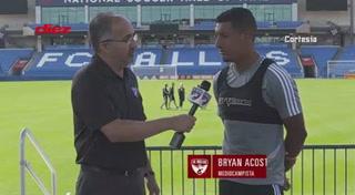 Bryan Acosta habla de su buen momento que está viviendo en la MLS con el FC Dallas.