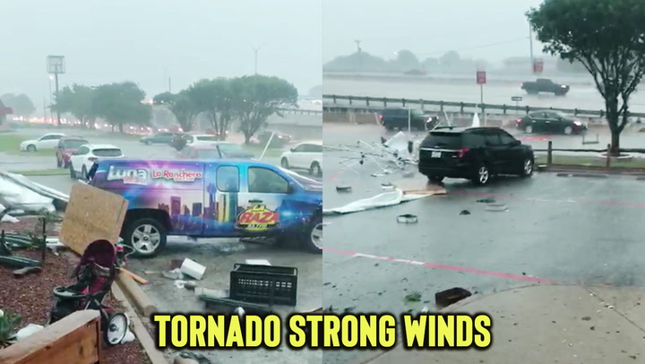 Tornado tearing through Texas rips canopy apart