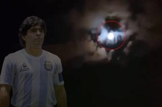 La increíble silueta de Maradona que se reflejó en el cielo y se viralizó en redes