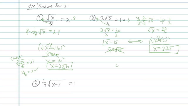 Solving Radical Equations - Problem 5