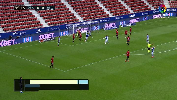 Gol de Isak (0-1) Osasuna 0-1 Real Sociedad