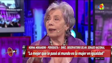 Norma Morandini: Con el aborto hay que dar argumentos
