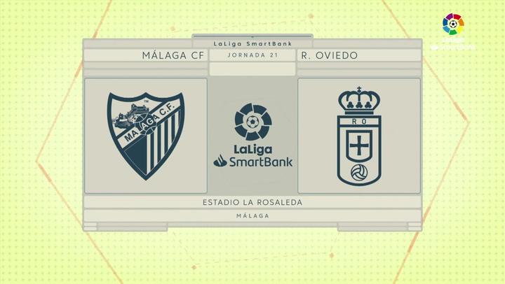 LaLiga Smartbank (Jornada 21): Málaga 1-1 Oviedo