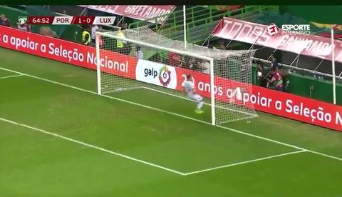 Cristiano Ronaldo marcó un golazo en el Portugal-Luxemburgo