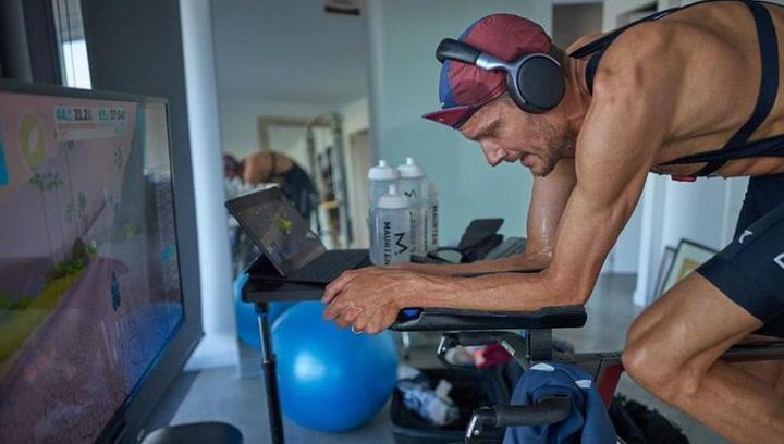 Frodeno, Ironman solidario... ¡en casa!