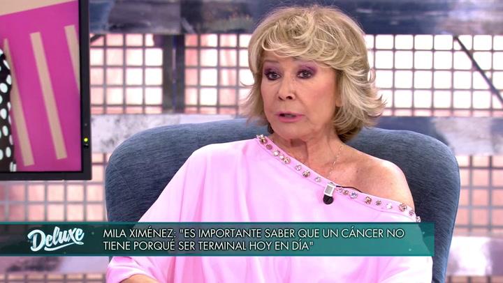 """Mila Ximénez reaparece en 'Sábado Deluxe': """"Tengo metástasis en el hígado"""""""