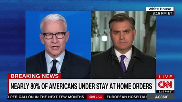 CNN's Acosta After Coronavirus Briefing: Trump 'Is Scared' --'We Could All Feel That in the Room'