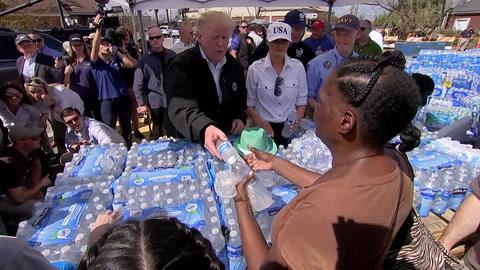 Donald Trump llega a Florida para evaluar los daños del huracán